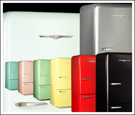 Retro 50s Style Refrigerators